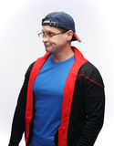 Man in sportswear. Handsome man with glasses in sportswear Royalty Free Stock Photography