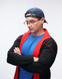 Man in sportswear. Handsome man with glasses in sportswear Royalty Free Stock Images
