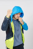 Man in sportswear fights Royalty Free Stock Photos