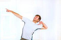 Man in sportswear posing Royalty Free Stock Photo