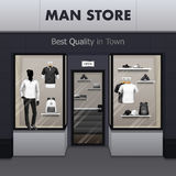 Man Sportswear Store Realistic Street View Stock Photos