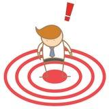 man spot as target Stock Images