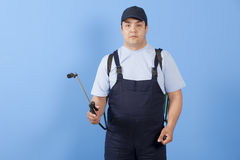 Man spraying insects- pest control Royalty Free Stock Images