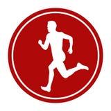 Man sprinter runner running. Sports sign icon man sprinter runner running Stock Photos