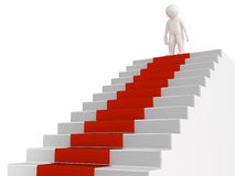 Man and staircase (clipping path included)man and staircase (clipping path included) Royalty Free Stock Images