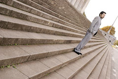 Man on the stairs Royalty Free Stock Image