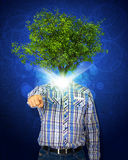 Man stand with green tree instead his head Royalty Free Stock Image