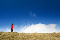 Man stand in outdoor Stock Images
