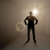 Man standing alone in the room Royalty Free Stock Images
