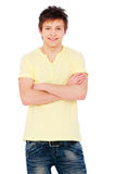 Man standing with arms crossed Royalty Free Stock Photos