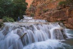 Free Man Standing At Beaver Falls Near Supai, Arizona Royalty Free Stock Image - 150685546