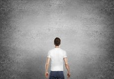Man standing back Royalty Free Stock Photo