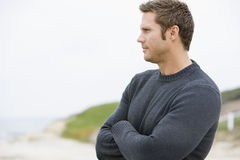 Man standing at beach Royalty Free Stock Images