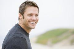 Man standing at beach Royalty Free Stock Photos