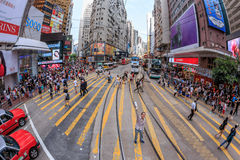 Man Standing in Causeway Bay royalty free stock photo