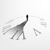 Man standing in the center of sundial Stock Images