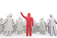 Man standing before crowd of people Royalty Free Stock Photography