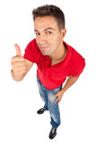 Man standing and doing thumb up Royalty Free Stock Photography