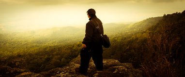 The man standing with drama nature traveler Stock Photo