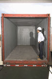Man Standing In Empty Container Royalty Free Stock Photos
