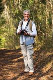 Man standing forest Stock Photo
