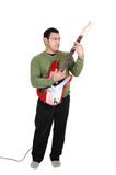 Man standing with guitar. Royalty Free Stock Photo