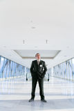 Man standing in the hall Stock Images