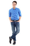 Man standing with hands in pockets Royalty Free Stock Photo