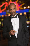 Man standing inside casino Royalty Free Stock Photos