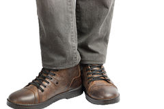 Man standing in jeans and boots Royalty Free Stock Image