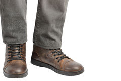 Man standing in jeans and boots Royalty Free Stock Photo