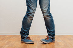 Man standing with knock-knees Royalty Free Stock Image
