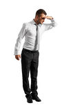 Man standing and looking down Royalty Free Stock Image
