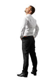 Man standing and looking up Stock Image