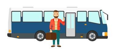 Man standing near bus Royalty Free Stock Photos