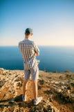 Man standing near edge Royalty Free Stock Photo