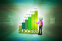 Man standing near the graph Stock Image