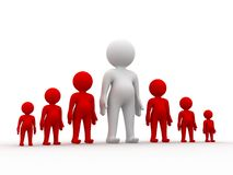 MAN STANDING OUT FROM THE CROWD Royalty Free Stock Image