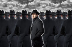 Man standing out from the crowd Stock Photography