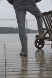 Man Standing On Pier Stock Photography