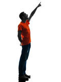 Man standing Pointing silhouette isolated Stock Photography