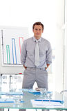 Man standing in a presentation Royalty Free Stock Photo