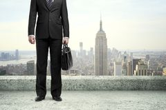 Man standing on roof Royalty Free Stock Photos