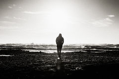 Man Standing on Seashore Stock Photography