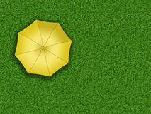 Man standing under an umbrella. Waiting for the change of weather. View from the top vector illustration