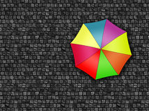 Man standing under an umbrella waiting for the change of weather Stock Photo