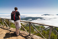 Man standing on a viewpoint in Madeira Royalty Free Stock Image