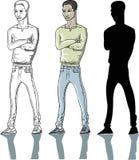 man standingen vektor illustrationer