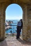 Tourist in Castel Aragonese in Ortona, Abruzzo, Italy