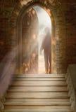 Man stands in the doorway. Man stands in the open doorway Royalty Free Stock Photos